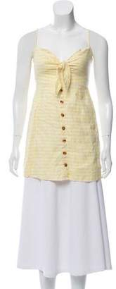 Faithfull The Brand Sleeveless Linen Top
