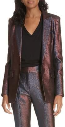 Veronica Beard Ashburn Metallic Blazer