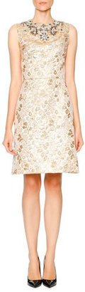 Dolce & Gabbana Sleeveless Embellished Dress, Gold $5,795 thestylecure.com