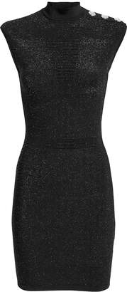 Balmain Button-Embellished Lurex Dress