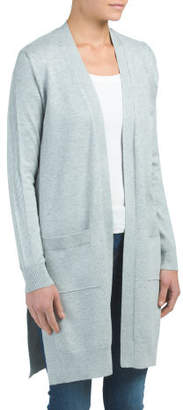 Long Duster Cardigan With Pockets