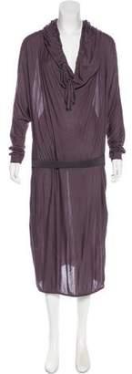 Lanvin Strapless Midi Dress