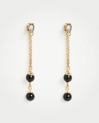 Ann Taylor Crystal Beaded Drop Earrings