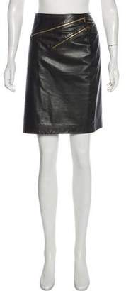 Michael Kors Leather Pencil Skirt