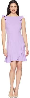 Donna Morgan Crepe Dress with Ruffle Skirt Women's Dress