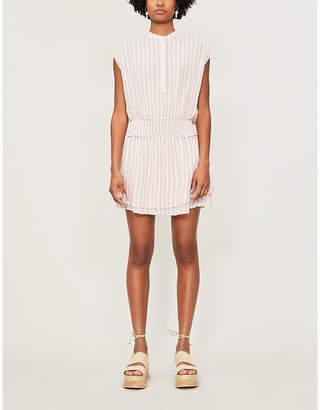 Rails Angelina striped linen and rayon-blend mini dress