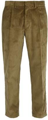 The Gigi - Cotton Corduroy Trousers - Mens - Khaki