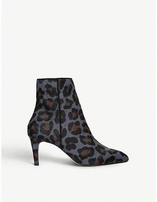 Carvela Samantha leopard-print leather ankle boots