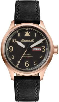 Ingersoll WATCHES Bateman Automatic Leather Strap Watch, 45mm