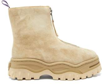 Eytys Raven Platform Suede Ankle Boots - Womens - Beige