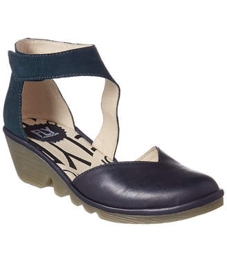 Fly London Pats Leather Wedge Sandal