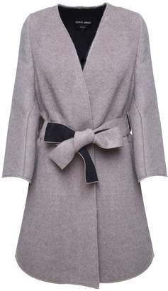 Giorgio Armani Alpaca And Wool-blend Belted Coat
