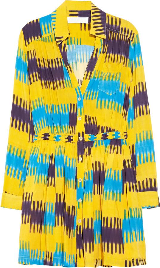 Thakoon Addition Ikat-print shirt dress