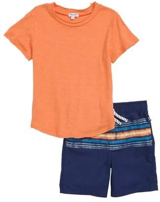 Splendid T-Shirt & Stripe Shorts Set