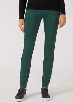 Emporio Armani J23 Super Skinny Trousers In Gabardine
