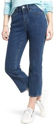 Treasure & Bond Praise High Waist Crop Flare Jeans (Granite Medium Clean)