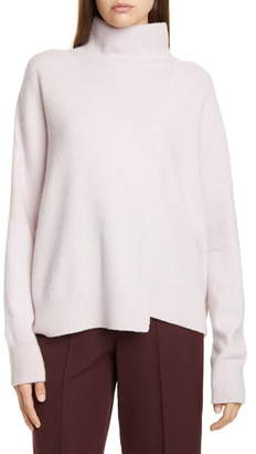 Vince Stepped Hem Wool & Cashmere Turtleneck Sweater