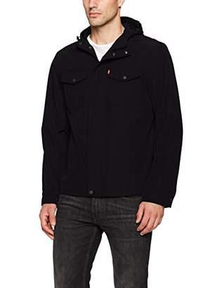 Levi's Men's Big and Tall Arctic Cloth Hooded Rain Slicker Jacket