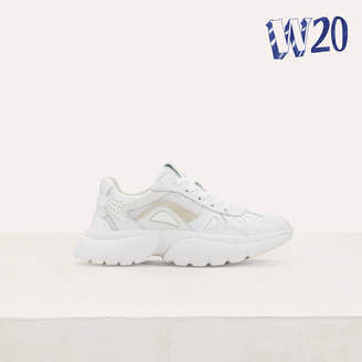 Maje W20 Urban leather sneakers