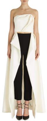 Carla Zampatti Pearl Corseted Tuxedo Exposï 1⁄2 Gown