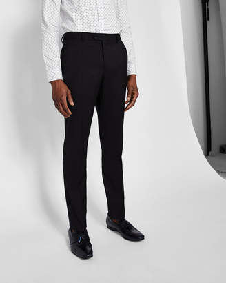 Ted Baker CASTLET Slim fit plain wool suit pants