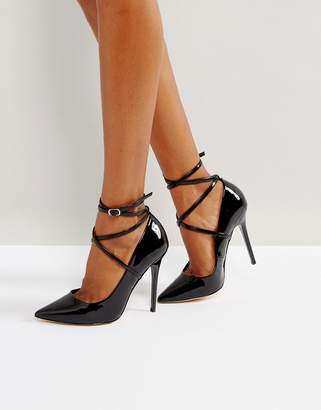 Office Hilda patent pointed pumps