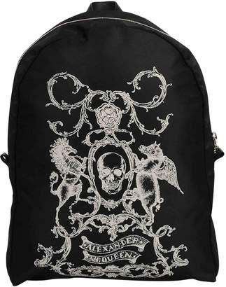 Alexander McQueen Black Synthetic Backpacks