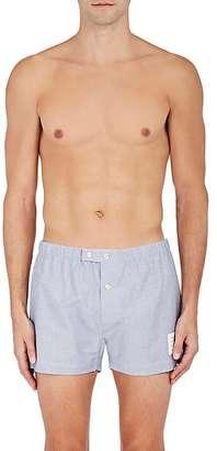 Thom Browne THOM BROWNE MEN'S COTTON OXFORD CLOTH BOXERS $200 thestylecure.com