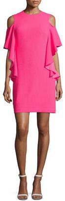 Trina Turk Lambada Crepe Ruffle-Trim Cocktail Dress $288 thestylecure.com