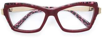 Cazal leopard print glasses