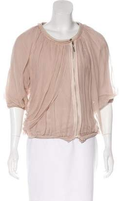 Anne Valerie Hash Silk Short Sleeve Jacket