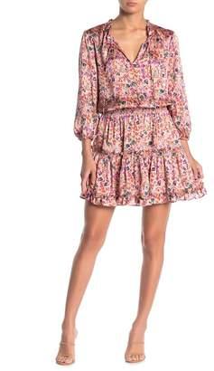 Love Stitch Floral Print Smocked Waist Dress