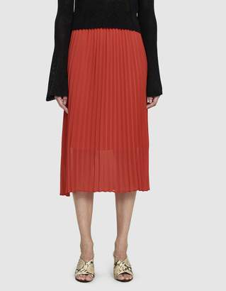 Just Female Moe Pleated Skirt in Ribbon Red