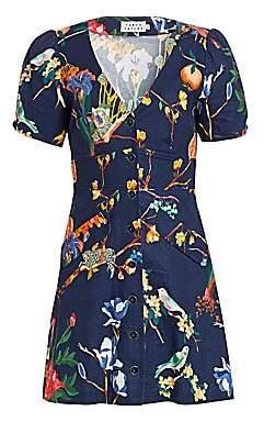 Tanya Taylor Women's Blanca Jungle Print Button-Front Dress - Size 0