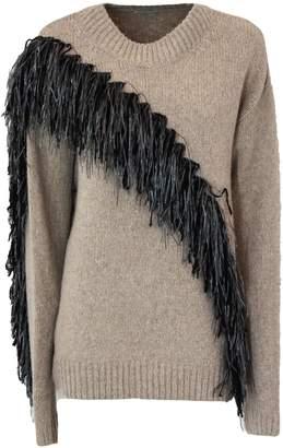 Dries Van Noten Beige Wool And Cashmere Pullover.