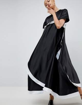 Asos Extreme Curved Hem Bonded Dress