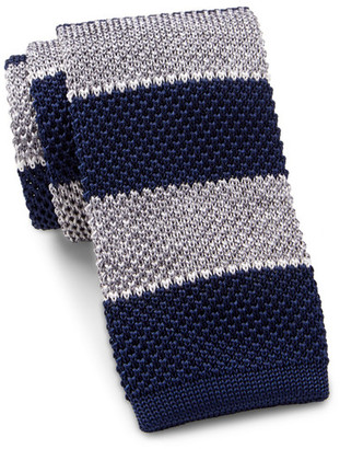 Tommy Hilfiger Shine Stripe Silk Tie $65 thestylecure.com