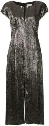 Ingie Paris slit detail lamé dress