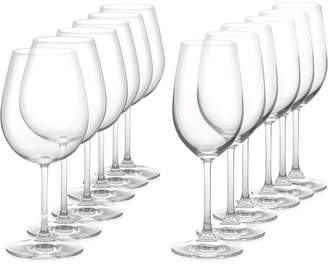 Marquis by Waterford Vintage 12 Piece Red & White Wine Glass Set