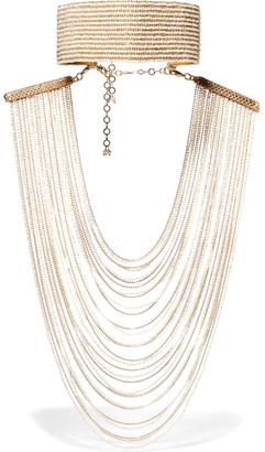 Rosantica - Eleonora Convertible Gold-tone Pearl Necklace - one size $1,870 thestylecure.com