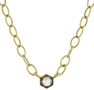 Cathy Waterman B&W Rose Cut Diamond Necklace - Yellow Gold