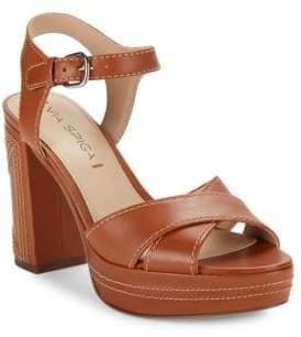 Via Spiga Brianna Leather Platform Sandals