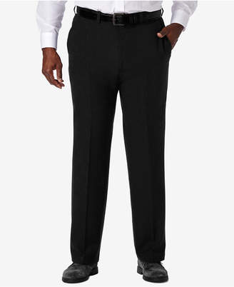 Haggar Men Big & Tall Cool 18 Pro Classic-Fit Expandable Waist Flat Front Stretch Dress Pants