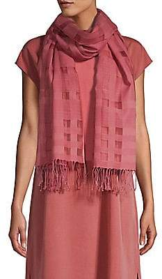 Eileen Fisher Women's Handloomed Organic Cotton& Silk Check Scarf