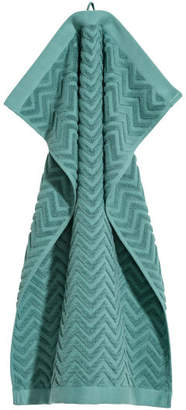 H&M Jacquard-patterned Hand Towel - Turquoise