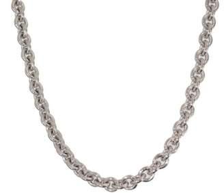 "Ahkah 18K Yellow Gold with Diamonds Heart "" R"" Motif Pendant Necklace"