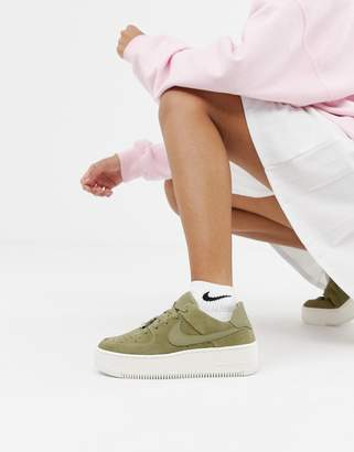 5c91f05b7 Nike Khaki Air Force 1 Sage Trainers