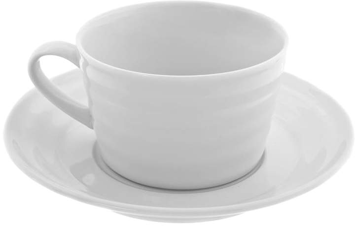 10 Strawberry Street Swing White 12-pc. Oversized Cup and Saucer Set