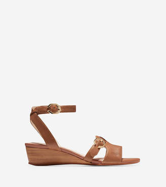 Cole Haan Terrin Buckle Wedge Sandal (40mm)