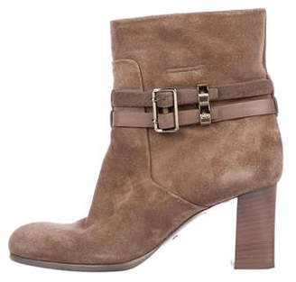 Christian Dior Suede Ankle Booties